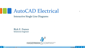 AutoCAD Electrical- Interactive Single Line Diagrams